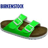 春夏新款Birkenstock/Arizona经典流行两带凉拖靓丽荧光漆皮