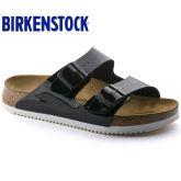 Birkenstock 专业防滑鞋底Arizona两扣凉拖鞋漆皮款