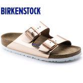 【软底】春夏新款Birkenstock/Arizona限量版天然牛皮金属色柔软鞋床